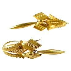 Antique 14k Gold Drop Earrings