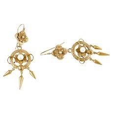 Victorian Pearl 14K Drop Earrings