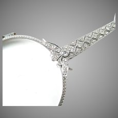Stunning Platinum Diamond Edwardian Lorgnette and Chain