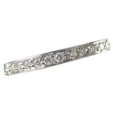 Diamond 18k Gold Eternity Band--Unisex Large Size 10.5