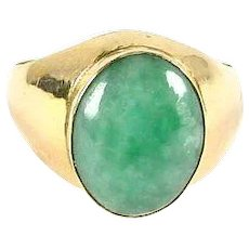 Jadeite Jade 14k Gold Ring