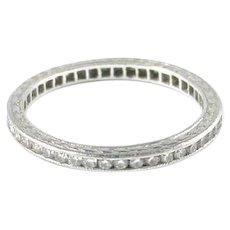 Delicate Art Deco Platinum Diamond Band Ring