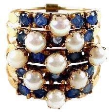 Sapphire Pearl Harem Ring