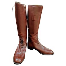 Vintage/Antique MENS 30s/40s MANFIELD & SONS Field Riding Boots - 1930s/1940s Cordovan Leather