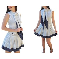 BEST EVER Vintage 60s mod twiggy SCOOTER Mini Dress - 1960s (Extra Small)