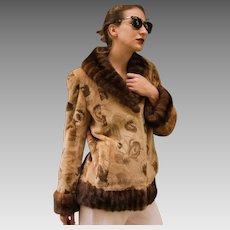 Vintage $3000 Morris Kaye & Sons SHEARED MINK & Mink FUR mod style Jacket/Coat - Small/Medium