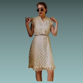 ANGELIC Vintage 70s Victorian Lace boho peasant festival sun Dress - 1970s (FREE DOMESTIC SHIPPING!!)