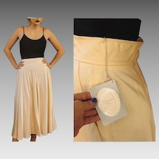 UNUSED Vintage 70s/80s CHRISTIAN DIOR Ivory Midi runway festival boho Skirt - 1970s/1980s (Small)