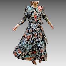 Never-Sold DEADSTOCK: Vintage 80s DIANE FREIS Beaded Sequin FORMAL Dress Gown - 1980s (Medium/Large)