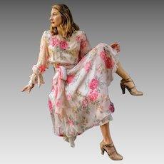 Never-Sold Deadstock:  Vintage 80s DIANE FREIS Beaded Sequin formal cocktail Dress Gown - 1980s (Medium/Large)