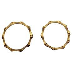 Lot of 2:  Vintage 70s JAMES AVERY older 14kt Gold Wedding/Stackable Bands Rings - 1970s (Size 4.5)