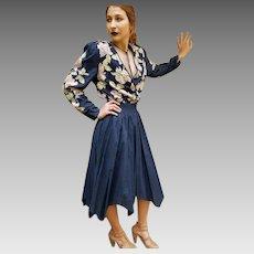 "UNUSED Vintage DIANE FREIS 1980s 100% BEADED Cotton ""Ballerina Skirt"" Dress (Small - Medium)"