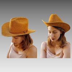 RARE Gorgeous COLOR!! Vintage BAILEY Suede Leather unisex mens womens Cowboy Hat - 7