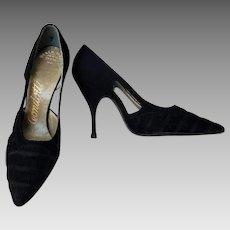 """Rockabilly Glam"" Vintage 1950s STILETTO high heels Shoes"