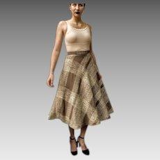 ICONIC! Vintage LIZ CLAIBORNE 1980s does 1950s retro Rockabilly Swing Plaid Skirt