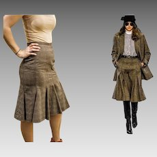 DOLCE & GABBANA Fall Trend Alert ~~ Vintage 1990s Houndstooth Box Pleat Skirt