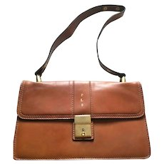 Made In ITALY Vintage 1970s I. MILLER Leather Accordion Messenger Bag Purse