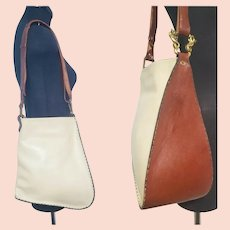 Very Rare~ Vintage 60s/early 70s Enid COLLINS of Texas Leather Purse Saddle Bag