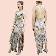 """DIANE FREIS Own Vintage!  NWT $900 """"Sexy Animal Print"""" boho sequin Cocktail Dress"""