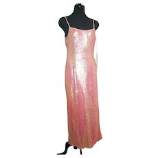 "DIANE FREIS Lovers: Pieces from her OWN Collection!   Vintage ""India Sequin"" COUTURE Silk Gown Dress"