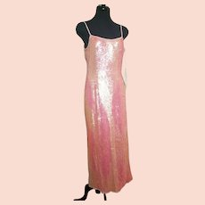 """DIANE FREIS Lovers: Pieces from her OWN Collection!   Vintage """"India Sequin"""" COUTURE Silk Gown Dress"""