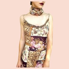 """DIANE FREIS Lovers: Pieces from her OWN Collection!   Vintage """"Patchwork Silk"""" Beaded Cocktail Dress"""