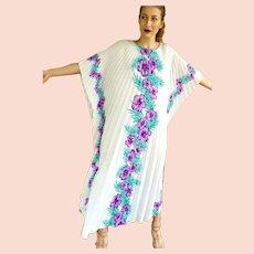 1970s ROYAL CREATIONS Vintage boho Hawaiian festival Kaftan Caftan Dress - 1 SIZE FITS MOST