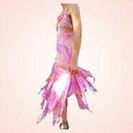 DIANE FREIS' PERSONAL Vintage Collection!    NWT $360 boho Silk Beaded Cocktail Dress