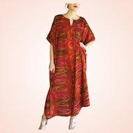 1980s SITA INDIA Indian Vintage boho ethnic festival Kaftan Caftan Dress