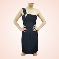 "Fashion History: Vintage 1970s ST GILLIAN KAY UNGER 1-Shoulder ""Toga"" LBD Dress"