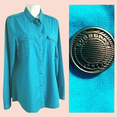 UNISEX BURBERRY BRIT Vintage 1990s mens/womens Logo Button Shirt/Top