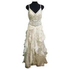 NWT DIANE FREIS Vintage Pearl White Wedding/Bridal/Formal Dress
