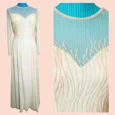 """NWT $3500 DIANE FREIS  Vintage """"1990s Supermodel"""" Bridal/Wedding Gown Dress"""