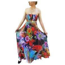 "UNUSED Vintage~ DIANE FREIS ""Wearable Art""  $1000 Maxi Dress/Gown"