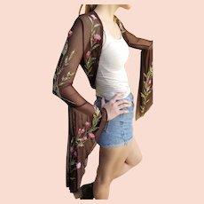 Seen On 1990s Runway: Vintage DIANE FREIS Couture $1000 Beaded Shrug Bolero JACKET