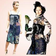 Vintage RUNWAY Fashion: 1990s DIANE FREIS Beaded Lace boho glam Dress