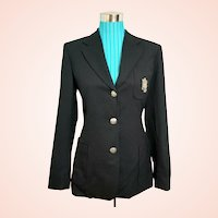 "ULTIMATE Vintage RALPH LAUREN 1990s ""preppy"" Collegiate Crest Blazer/Jacket"