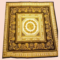*VINTAGE HOLIDAY Gift!*  New/Unused  $595 DIANE FREIS Baroque Gauze Scarf/Wrap/Pashmina  52""