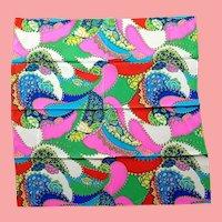 """UNUSED $390 Vintage DIANE FREIS """"Bold Op Art"""" Silk Scarf -  34"""" Square"""