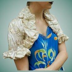 Unused Vintage $459  DIANE FREIS Silk Burnout Bolero Shrug/Jacket