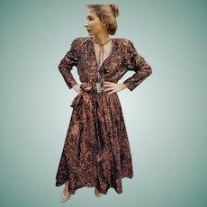 NWT $2950 Vintage 1980s DIANE FREIS Beaded boho Dress