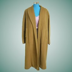 What a STEAL! Vintage 1950s Bernhard Altmann VICUNA mens/womens Trench Coat ---- FaBuLoUs!!!