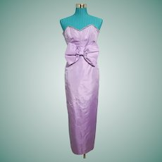 So MARILYN!!!~~~ Vintage 1980s VICTOR COSTA Strapless Lavender Dress Gown