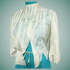 Genuine EDWARDIAN Vintage 1910s amazing SILK Blouse Top Shirt