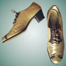 SWING Dance Heels! Vintage 1940s WW2 era Oxfords Shoes - Size 9!