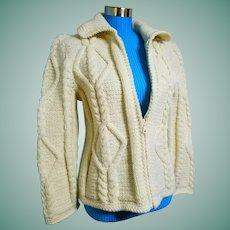 GORGEOUS Vintage 1990s Buffalo of Canada FISHERMAN'S Sweater Jacket