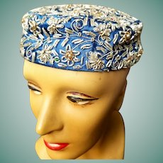 Sought-After 1960s NEIMAN MARCUS Vintage INDIA Beaded Cloche Hat
