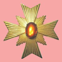 WoW!!  Vintage 1960s MIRIAM HASKELL Maltese Cross Pin/Brooch