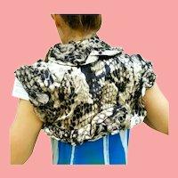NWT DEADSTOCK Vintage DIANE FREIS Snake Skin-print Bolero jacket/shrug