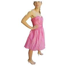 DEADSTOCK Vintage 1980s DIANE FREIS NWT $600 beaded Prom/Cocktail Dress